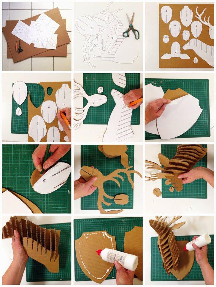 fabriquer tete de cerf carnaval pinterest t te de. Black Bedroom Furniture Sets. Home Design Ideas