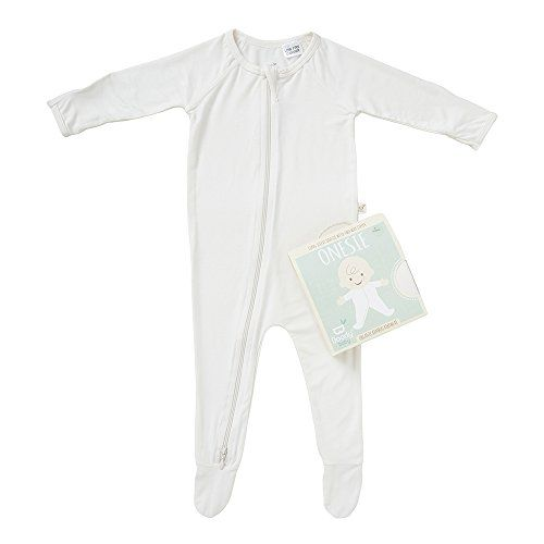 c7d37b9d00 Boody Body Baby EcoWear Long Sleeve Onesie Soft Blanket Sleeper with Built  In Mittens made from Natural Organic Bamboo Soft Breathable Eco Fashion for  ...