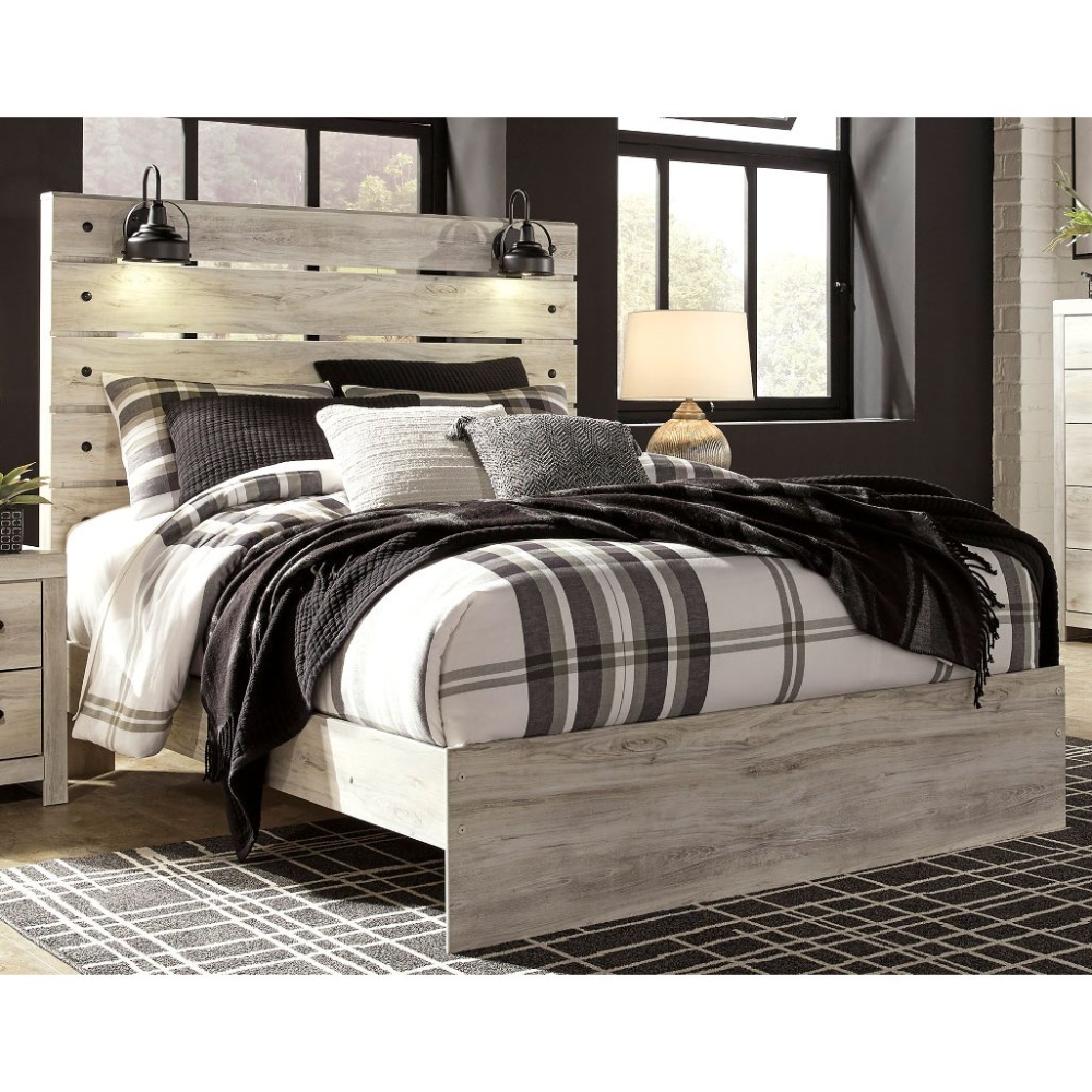 Rustic Whitewash Twin Bed Sunrise Park Rc Willey Furniture Store In 2020 Panel Bed Queen Panel Beds Headboard Styles