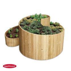 jardiniere bois spirale 120 cm