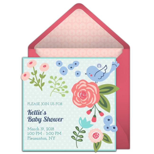 Free fresh flowers invitations party guests free baby shower online invitations featuring adorable boppy designs we are loving this online design called fresh flowers filmwisefo