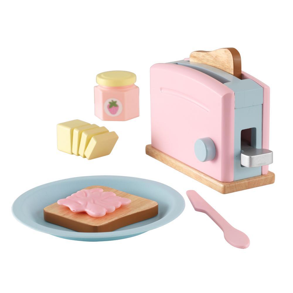 KidKraft Pastel Toaster Set63374 Toaster, Toy kitchen