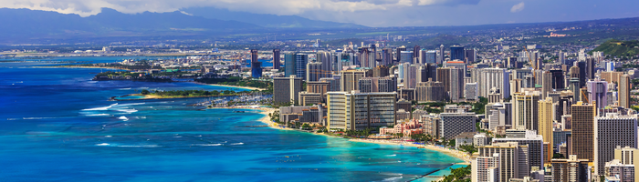 Honolulu Hawaii The Largest City And State Capital Of The Hawaiian Islands Is A Montage Of White Sand Beaches High Rise Hote Hawaii Travel Free Travel Trip