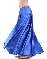 78a453757d Satin Long Swing Skirt Gold Belly Dance Satin Long Dress Elastic Waistband  Design Great Stage Effect at Amazon Women's Clothing store: