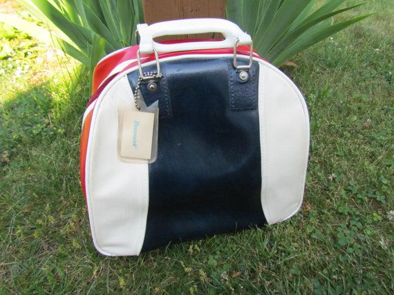Vintage Swanky Brunswick Bowling Bag Tote by glamtownvintage, $24.96