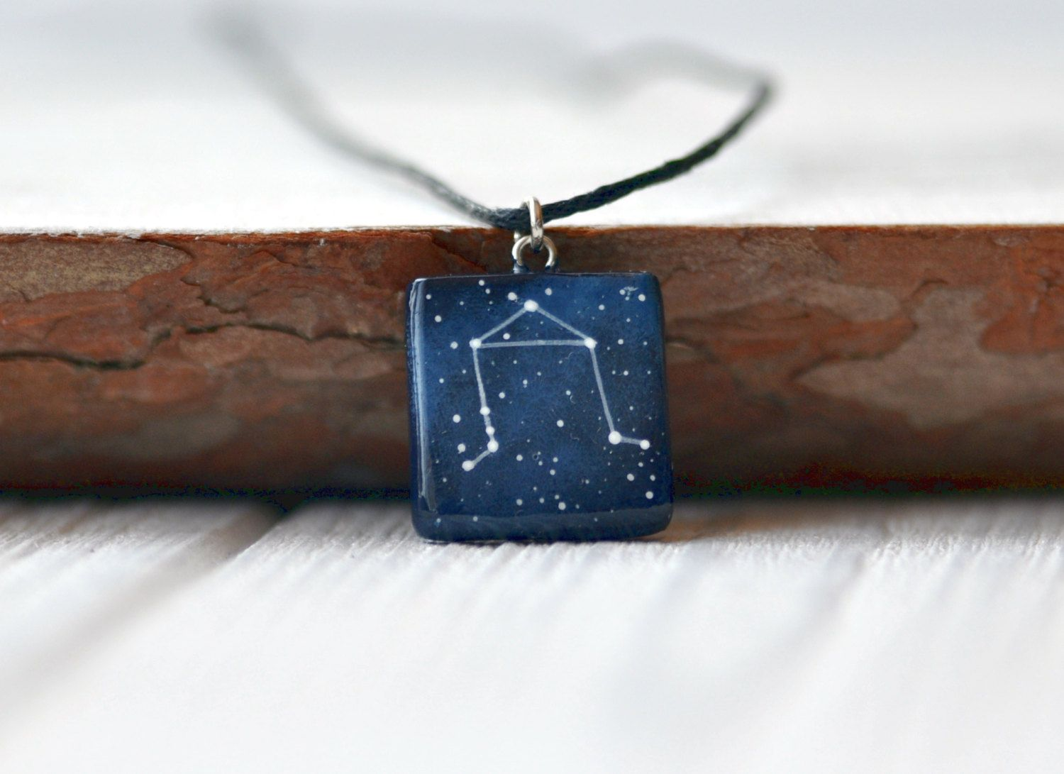 Libra pendant necklace september gift horoscope birthday mens blue