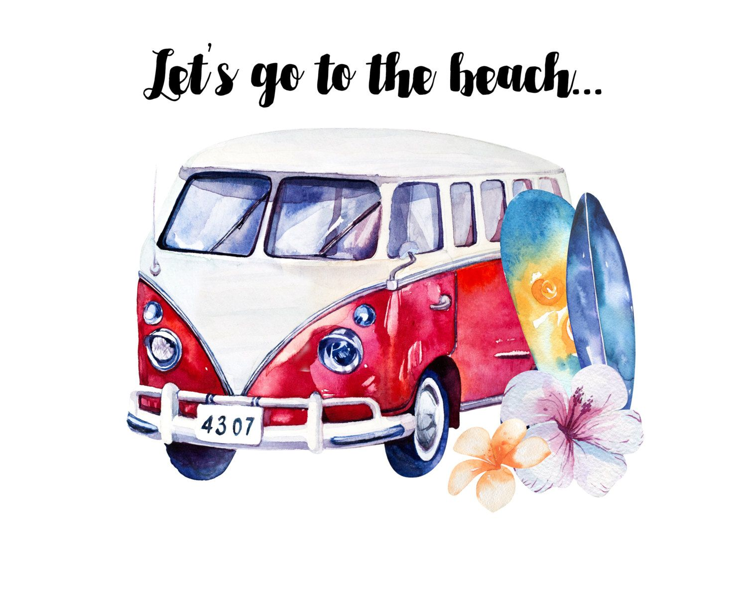 Digital print instant download lets go to the beach 8x10 this item is unavailable izmirmasajfo Gallery