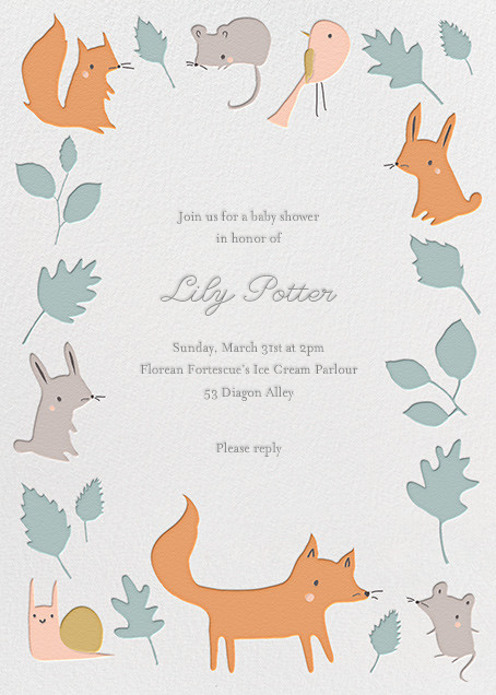 Foxyu0027s Forest Party By Little Cube For Paperless Post. Design Custom Baby  Shower Invitations With