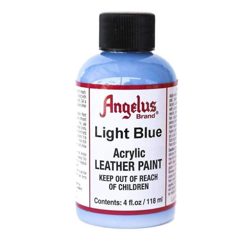 Angelus Acrylic Leather Vinyl Canvas Paint Dye 4 Oz Paint Dye Angelus Light Blue Vinyl Painted Leather Vinyl Vinyl
