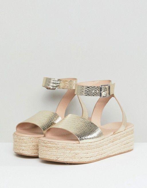 d0daced81f8 Cecilio Gold Espadrille Flatform Sandals in 2019