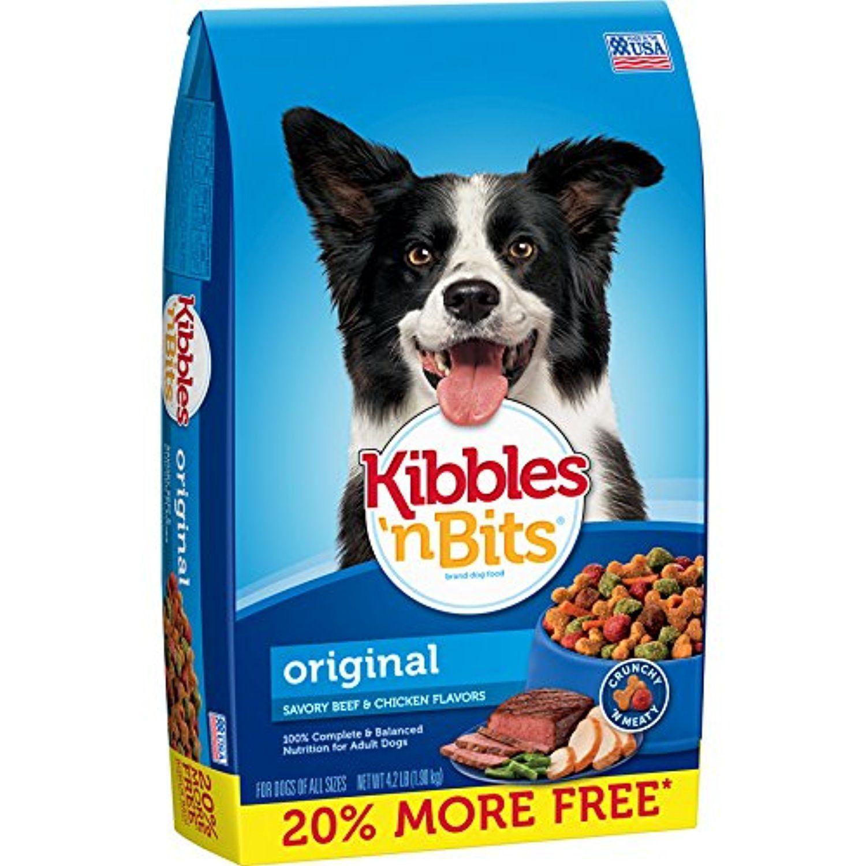 Kibbles N Bits Original Savory Beef Chicken Flavors Bonus Bag