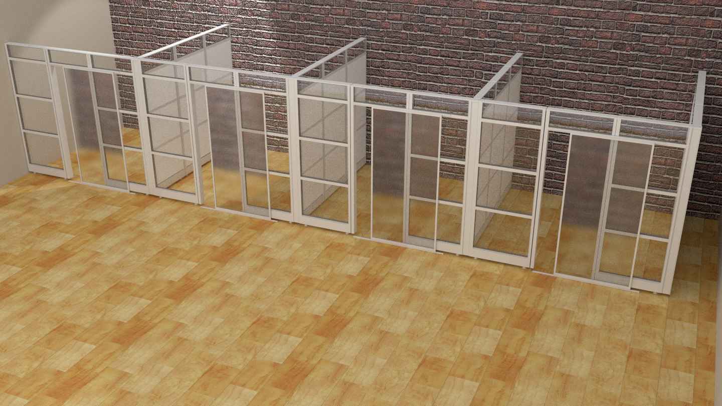 Designer Half Glass Office Demountable Walls Room Dividers