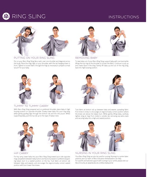 Beco Ring Sling Instructions Babywearing Pinterest Ring