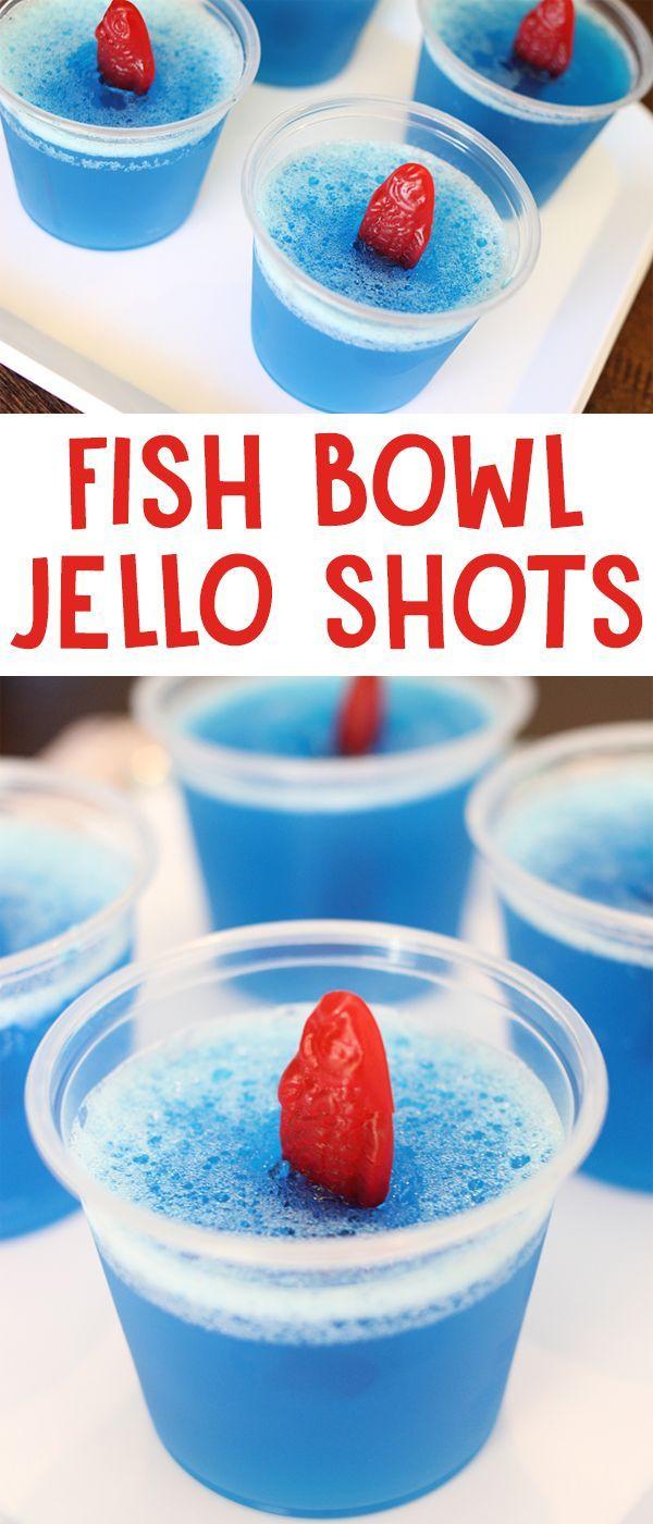 Fish Bowl Jello Shots #jelloshotsvodka