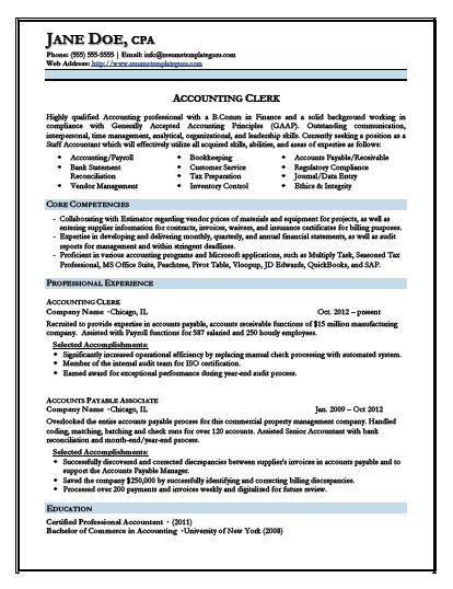 Junior Accountant Resume Template Resume Template Guru Accountant Resume Resume Examples Resume Templates