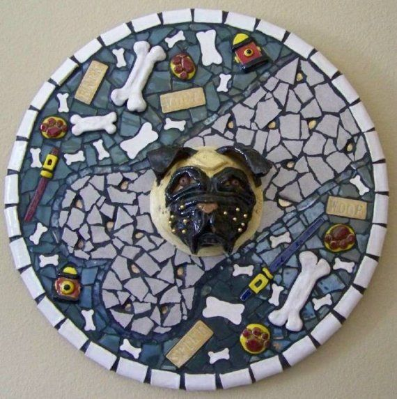 Mosaic Pug Mask Picture Bone Bandit by animalinstincts on Etsy, $845.00