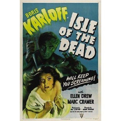 Boris Karloff isle Of The Dead Movie Poster 18x24 Classic Horror Vintage