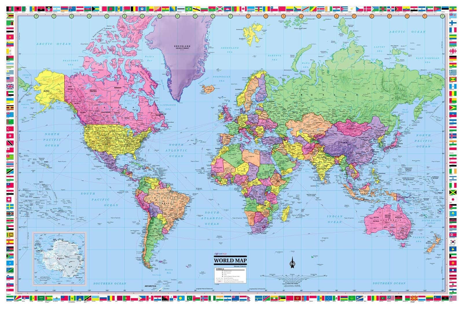 giant world 2016 printed 2016 we are map experts with on laminated wall maps id=89159