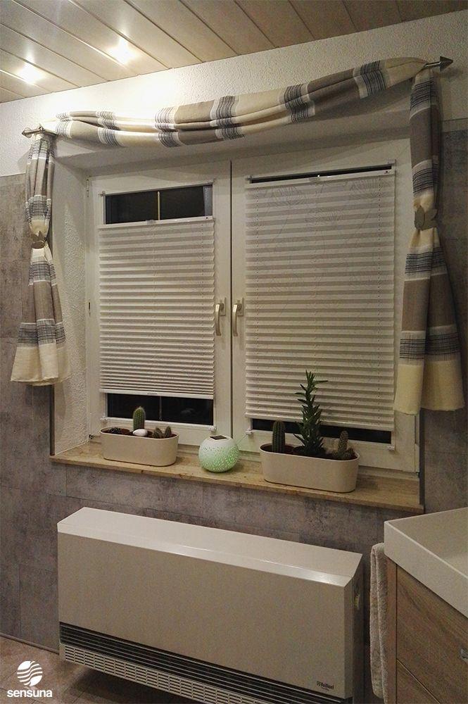 Das Bad erstrahlt in neuem Glanz  mit Gardinen und