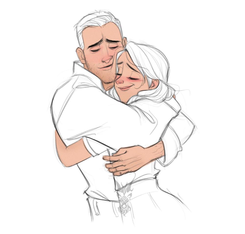 Artstation Hugs And Kisses David Ardinaryas Lojaya Anime Poses Reference Art Poses Hugging Drawing