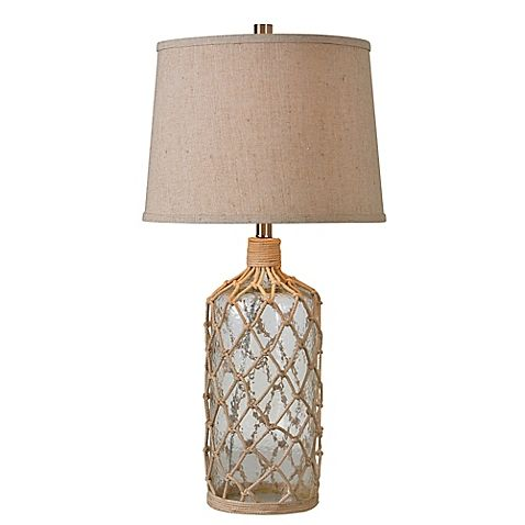 The Captain Table Lamp Looks Like It Might Have Been Plucked From The Wreckage Of A Pirate Ship The Cle Rope Table Lamps Beach Themed Lamps Coastal Style Lamp