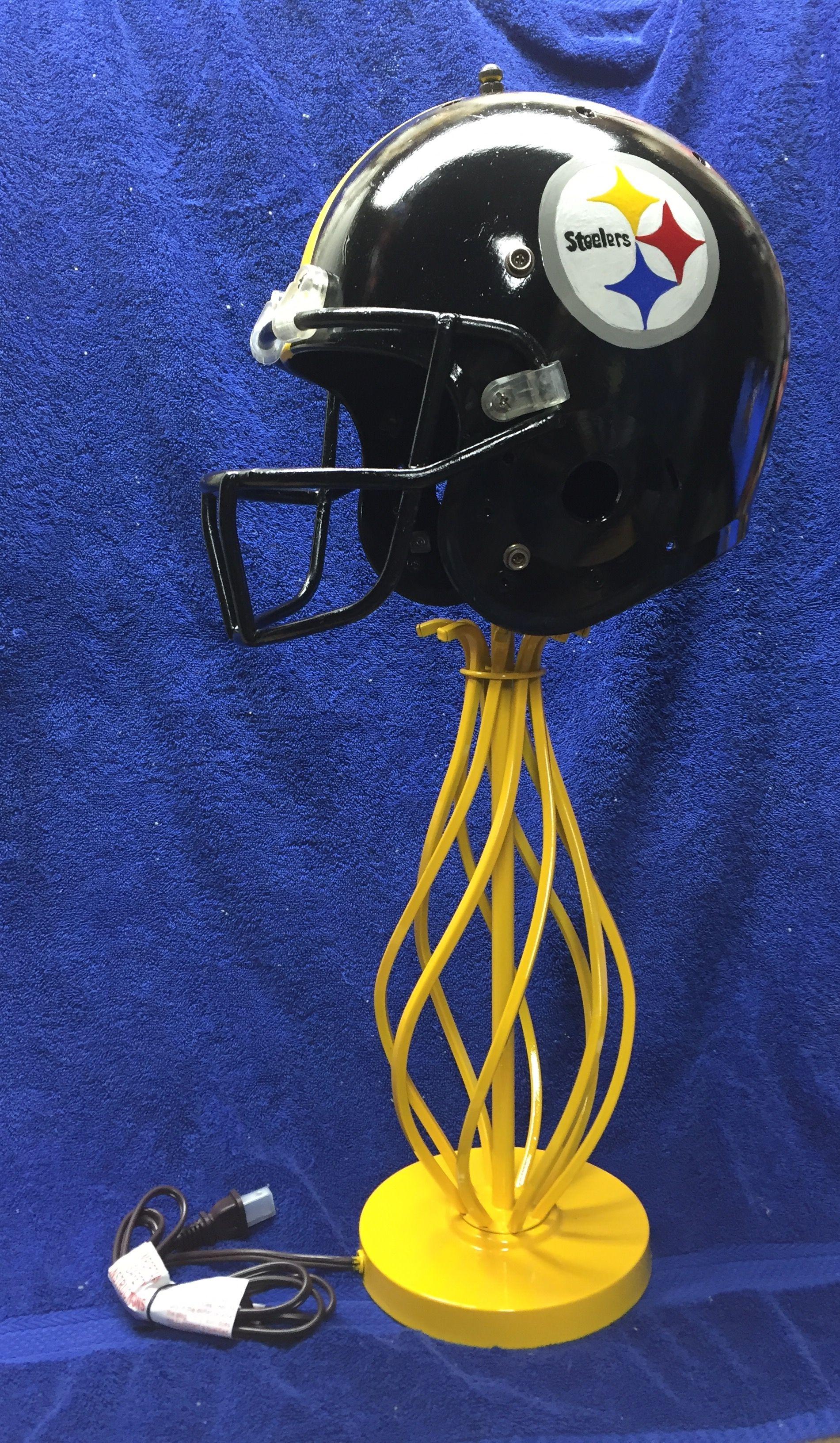Diy Steelers Helmet Lamp Steelers Helmet Football Helmets Helmet Paint