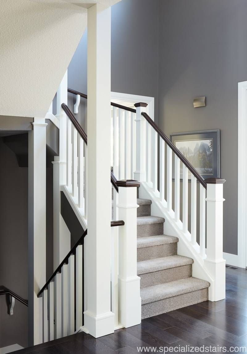 Southern Railing | White stairs, Stairs painted white ...