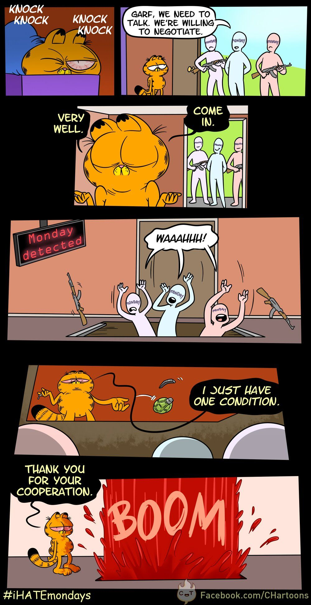 Garfield vs Mondays Very funny pictures, Funny comics