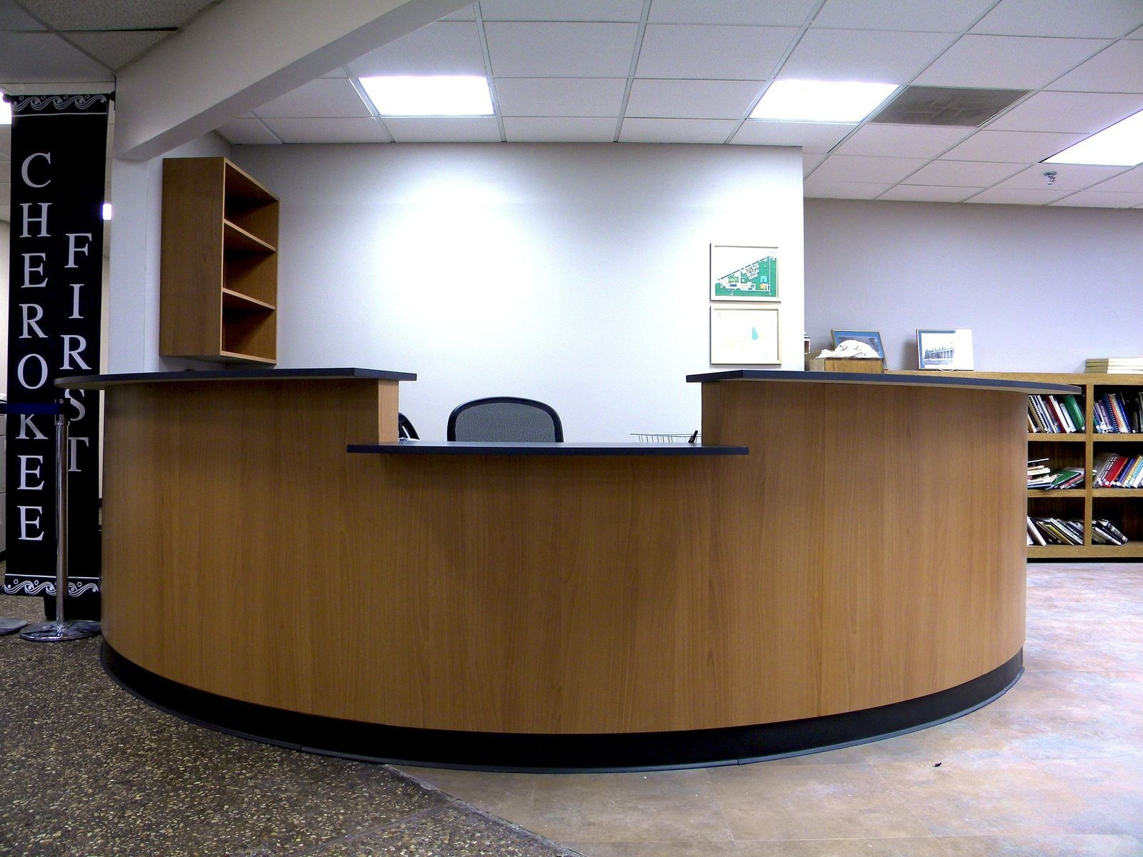 Reception desks for offices custom reception counters for Office counter design