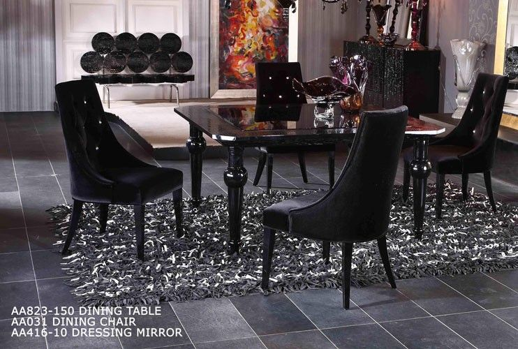 Best Modern High Gloss Dining Table Set Furniture In Black 400 x 300
