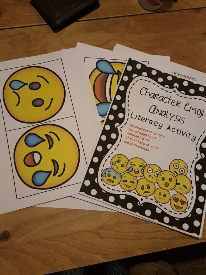 Character Emoji Analysis Literacy activities, Emoji and Literacy - character analysis