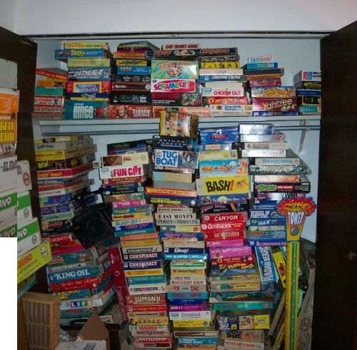 MY CLOSET FULL OF BOARD GAMES. Vintage toys, Old toys