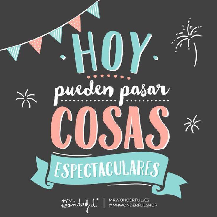 ¿Quien dijo que el lunes no podía ser el día de las cosas espectaculares? ;) #FelizLunes