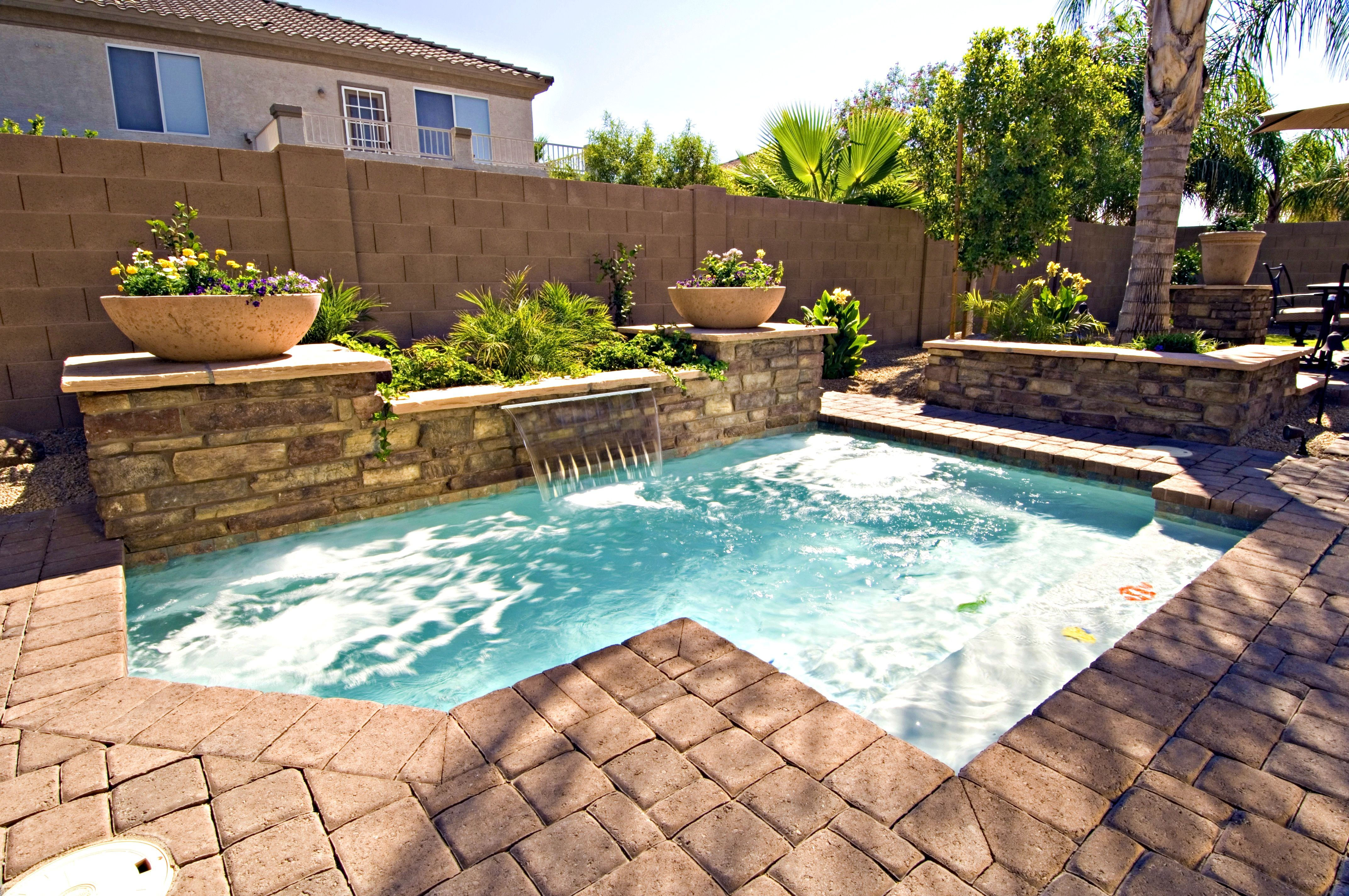 Furniture Fascinating Images About Yard Small Pools Keeping Swimming Clean Ceccdbbdbfdfc Affordable Small Inground Pool Small Pool Design Small Backyard Pools