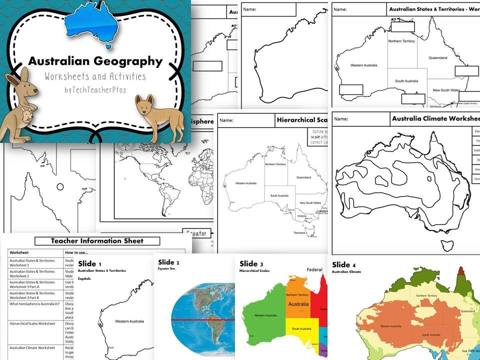 Printable Worksheets social studies geography worksheets : Australia Geography Mapping Activity States Territories and ...