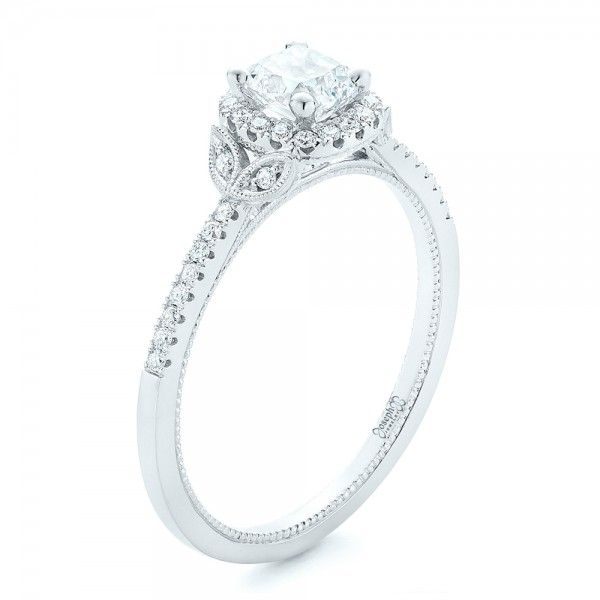 Enement Rings Design Your Own   Custom Diamond Halo Engagement Ring Outdoor Weddings Halo