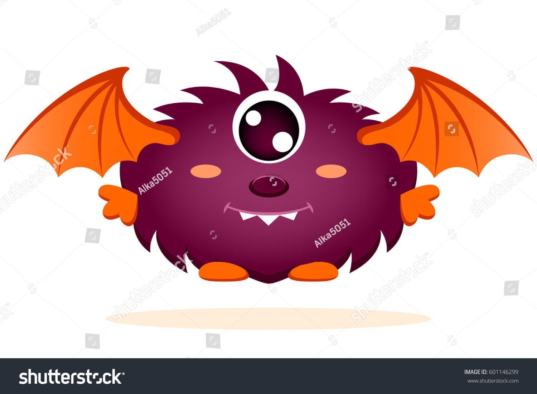 Cute Cartoon Monster With Wings Cartoon Monsters Cute Cartoon Cartoon