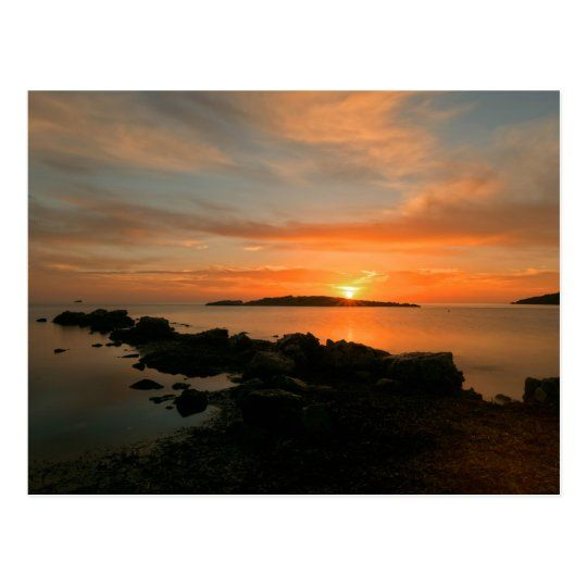 Postal de un amanecer en Sa Sal Rossa de Ibiza