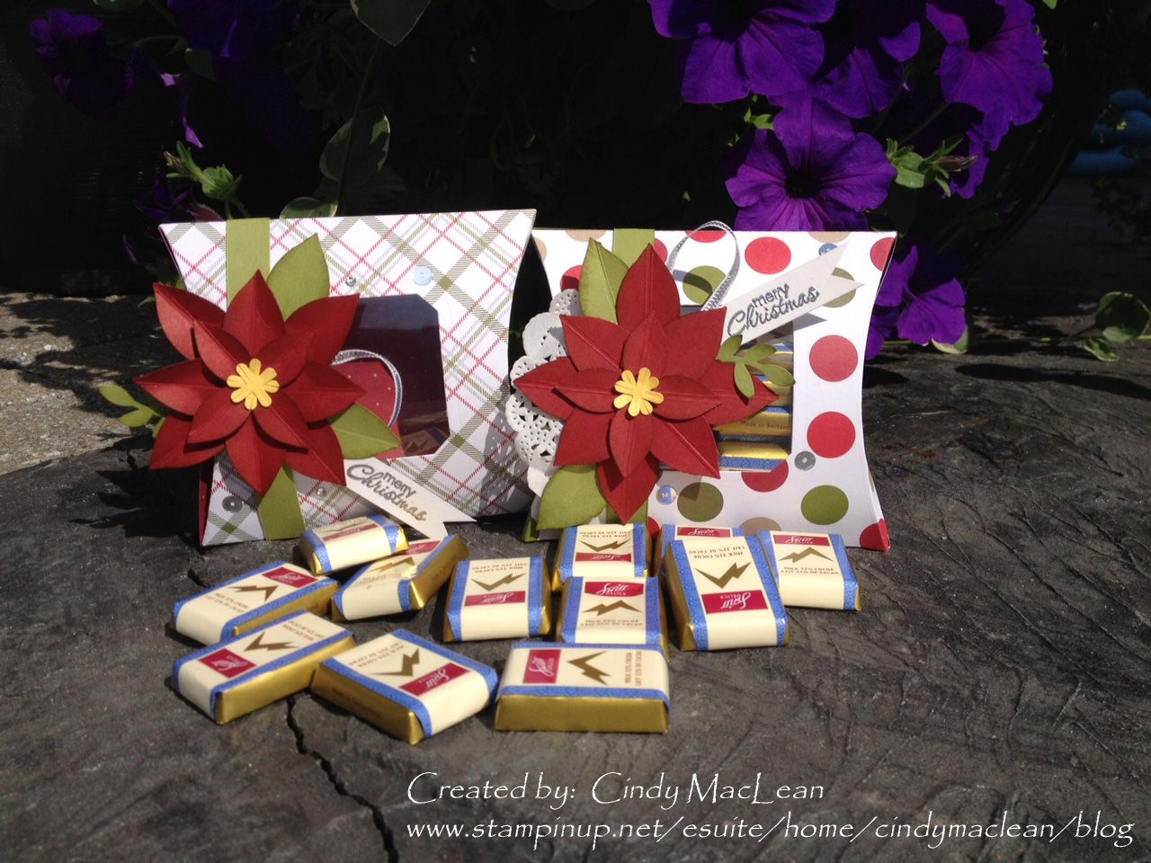 Festive Flower Builder Punch and Square Pillow Box Thinlit Die from Stampin' Up!