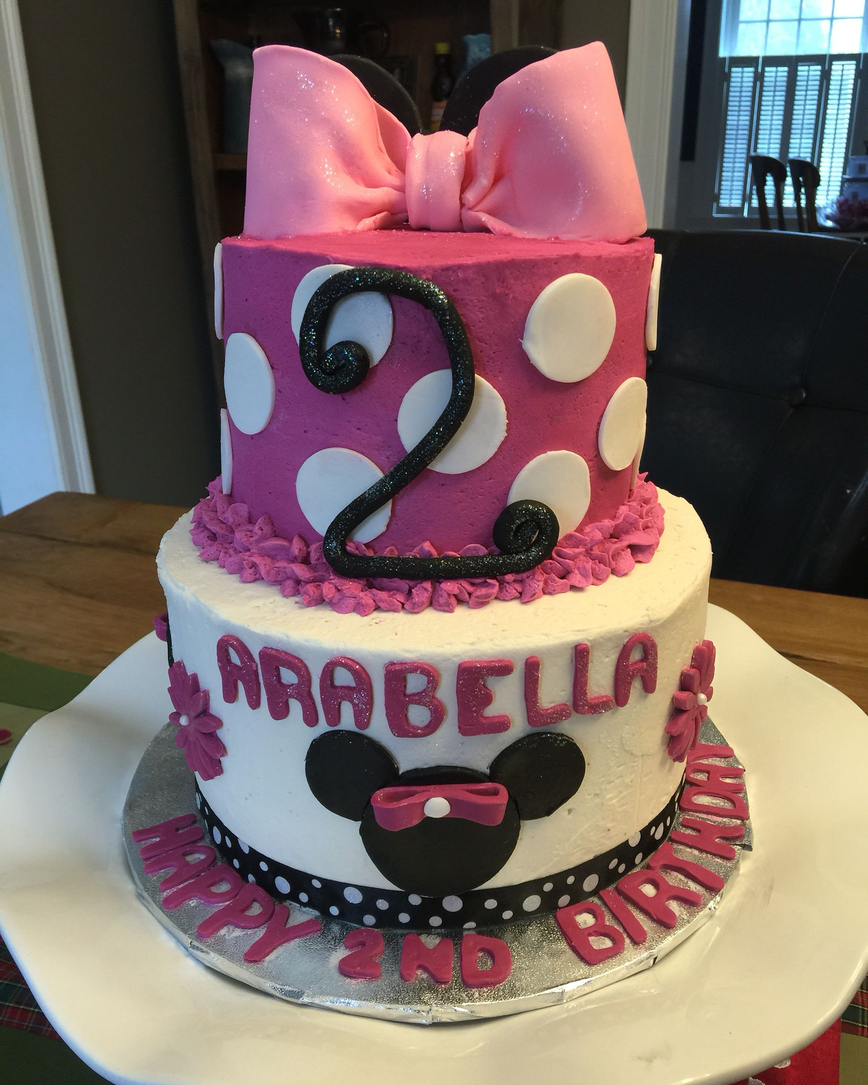 2 tier minnie mouse cake with images minnie mouse cake