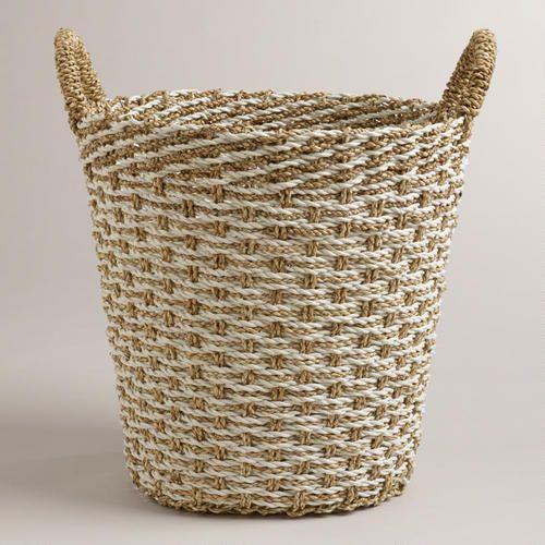 One of my favorite discoveries at WorldMarket.com: Large Pandan Vanessa Tote Basket