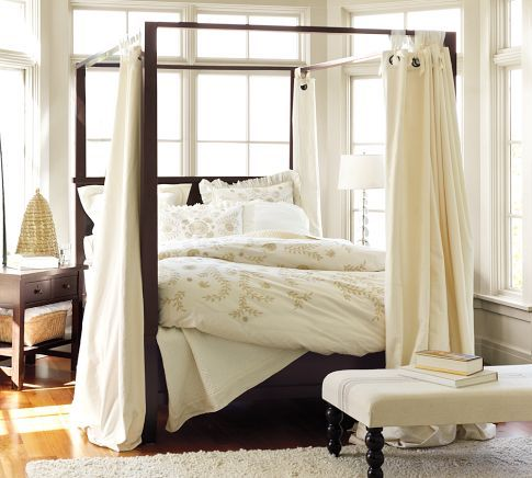 Farmhouse Canopy Bed | Pottery Barn this look. not this actual bed. i would & Farmhouse Canopy Bed | Pottery Barn this look. not this actual bed ...