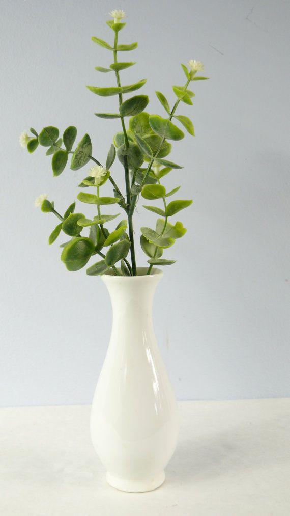 Little White Ceramic Vase Miniature Vase Small Flower Vase