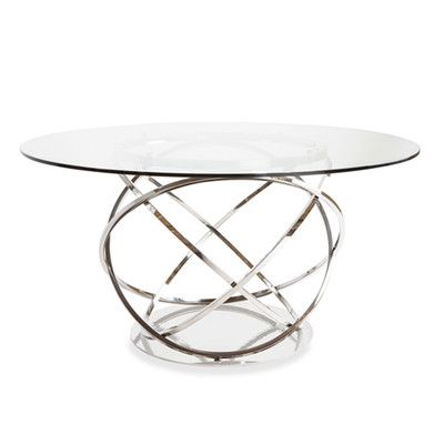 Lievo Orbit Dining Table Glass Round Dining Table Glass Dining