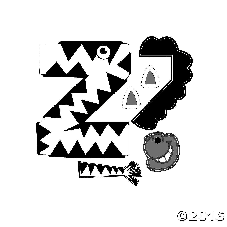 Letter Z Zebra Craft Template 2 Letter Z Zebra Craft