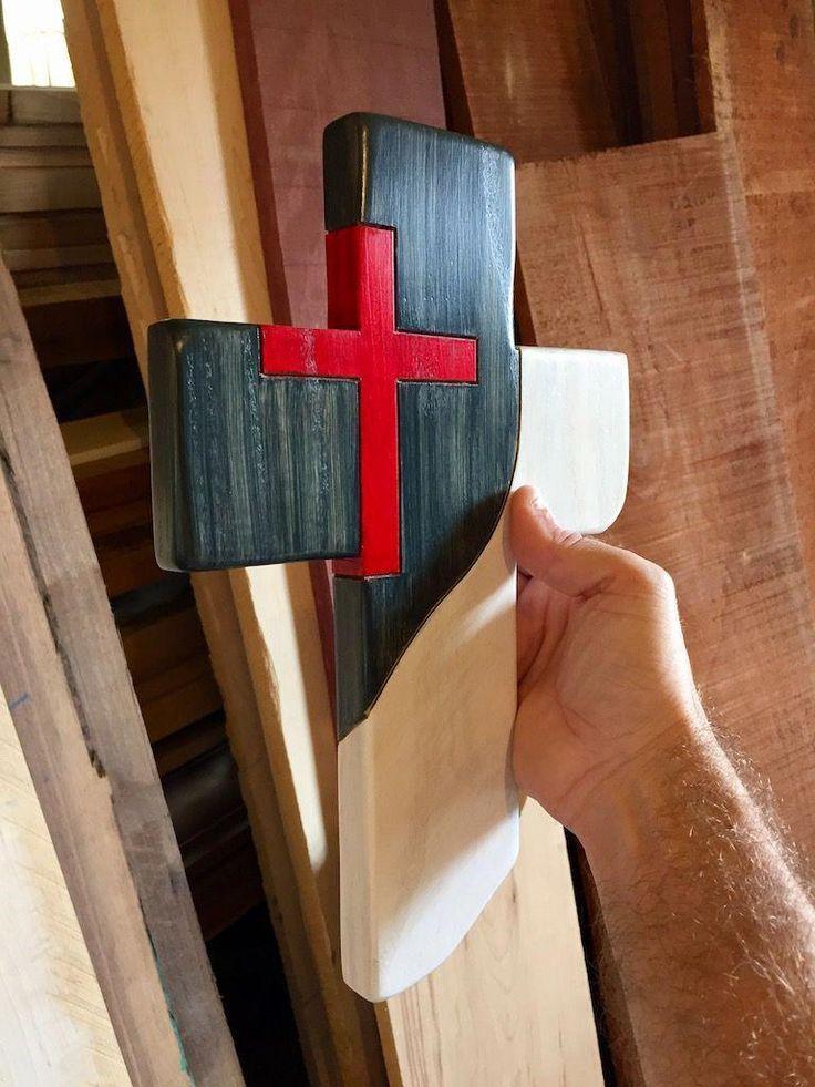 Christian flag wooden cross homemadebirdhouses