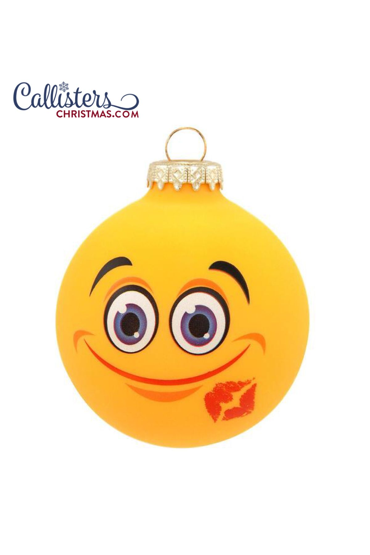 Kiss Face Emoji Ornament Kiss Face How To Make Ornaments Personalized Christmas Ornaments