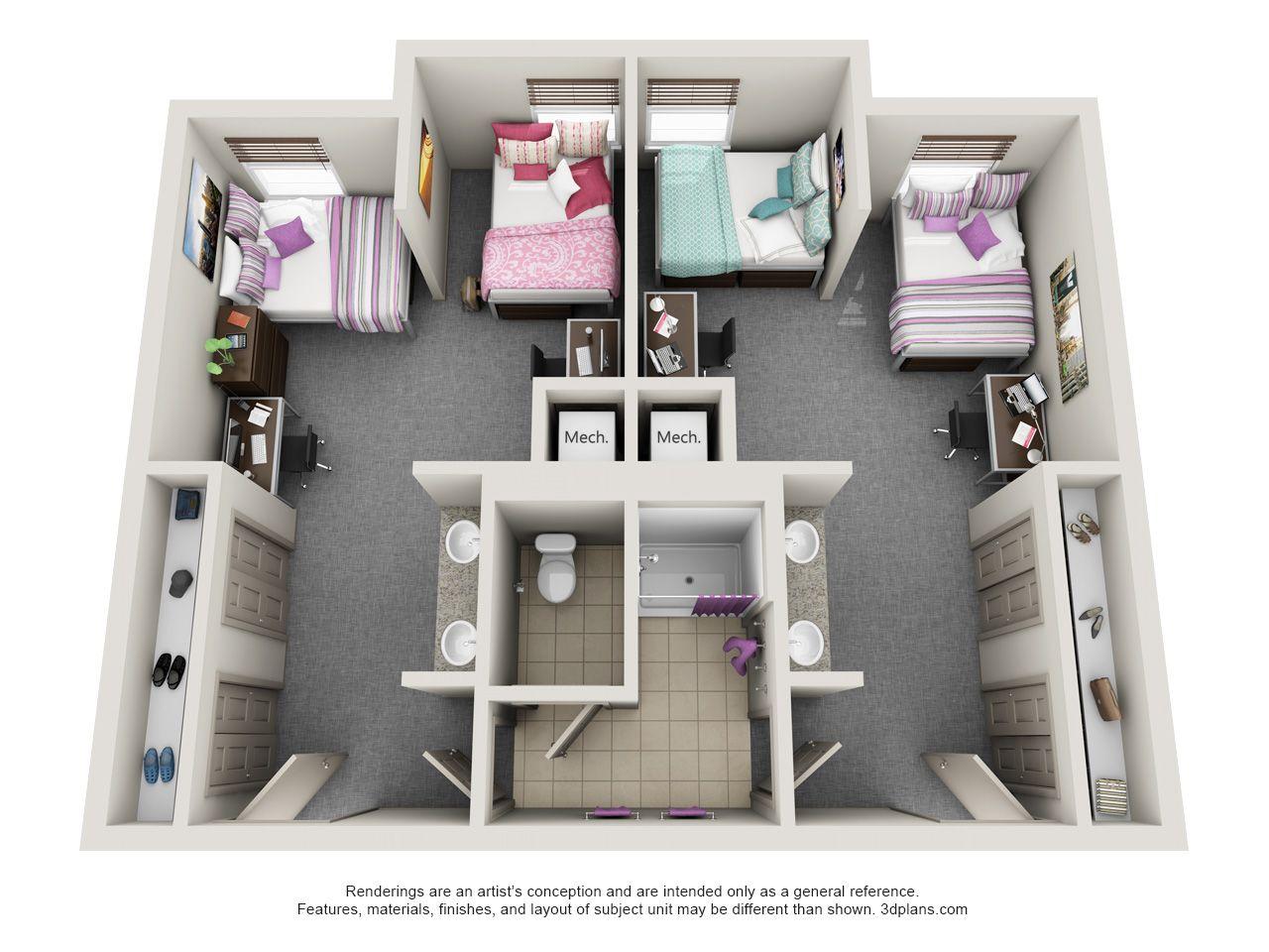 4personsuite Haggin Jpg 1280 960 Dorm Room Layouts Dorm Layout Dorm Design