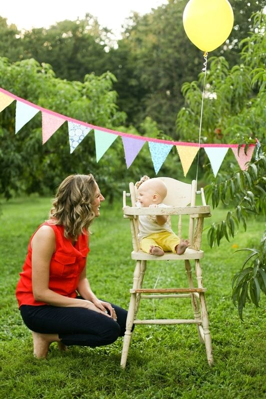 peach orchid mommy and me baby session