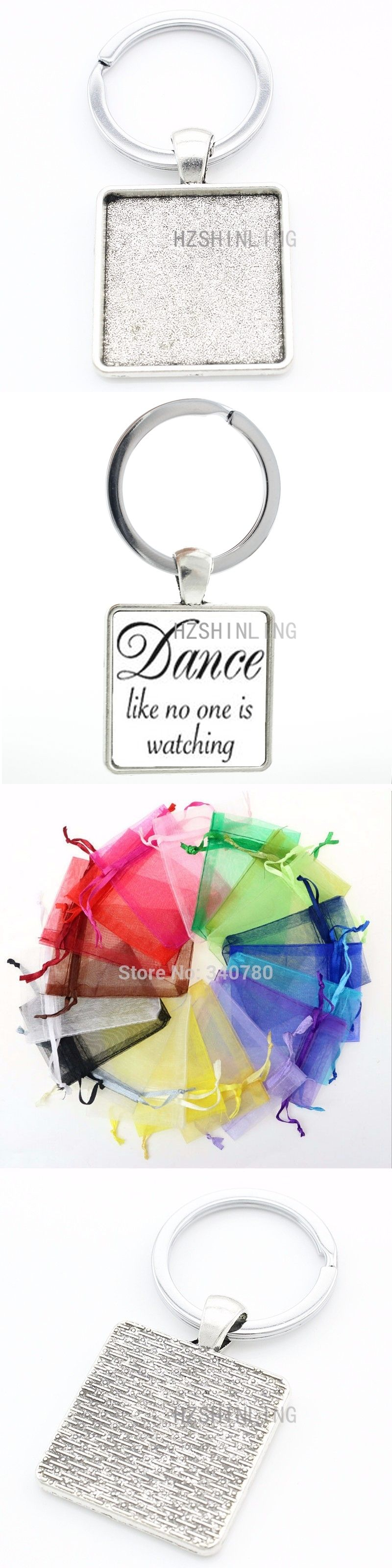 Vintage Dance Quote keychain Dance Like No One Is Watching keyring fashion  dancing dancer key chain 4e0ebad3f9